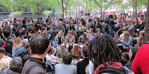 Occupy Wall Street - Demonstranten im Zuccotti-Park