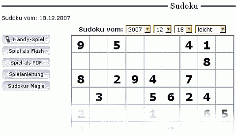 Die Zeit Sudoko