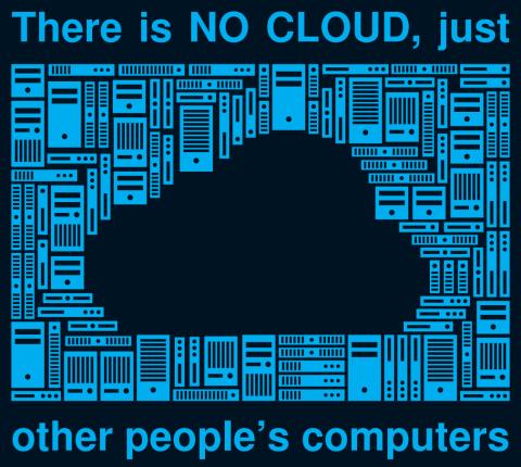 Es gibt keine Wolke sondern nur Rechner, die bei Fremden stehen